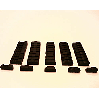 Black Wooden Train Token Set