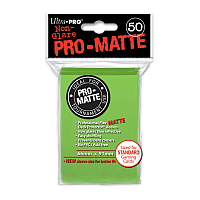 50ct Pro-Matte Lime Green Standard Deck Protectors
