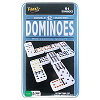 Dominoes - Double 12 Color Dot