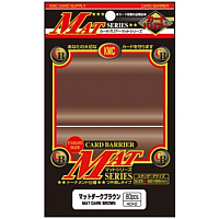KMC Standard Sleeves - Mat Dark-Brown