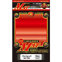 KMC Standard Sleeves - Mat Red