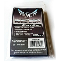 Mayday Games Card Sleeves - Euro Size (Black)