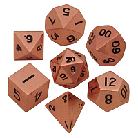 Copper Metal Dice 16mm Polyhedral Set