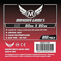 Mayday Games Card Sleeves - Medium Square 80 x 80