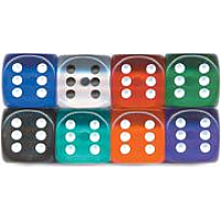 36 x D6 12mm Gem Spot Dice