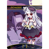 Tokens for MTG - Zombie Chibi Token