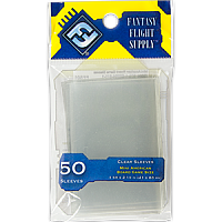 FFG Supply Clear Sleeves - Mini American Board Game (50 Sleeves)