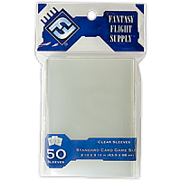 FFG Supply Clear Sleeves - Standard Card Game (50 Sleeves)