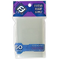 FFG Supply Clear Sleeves - Standard European Board Game (50 Sleeves)