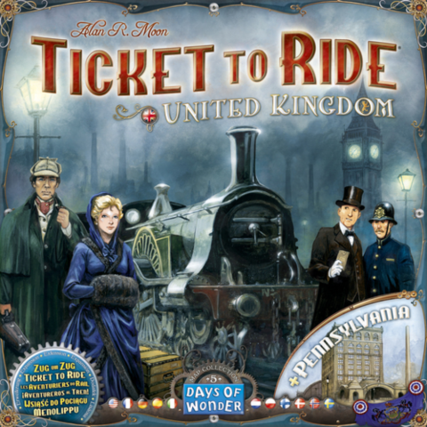 Ticket to Ride Map Collection: Volume 5 - United Kingdom & Pennsylvania _boxshot