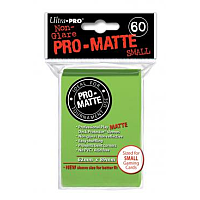 60ct Pro-Matte Lime Green Small Deck Protectors