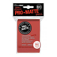 60ct Pro-Matte Red Small Deck Protectors