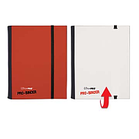 4-Pocket Red & White Flip PRO-Binder