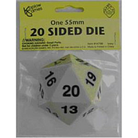 55mm d20 Spindown Life Counter: Ivory