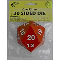 55mm d20 Spindown Life Counter: Red