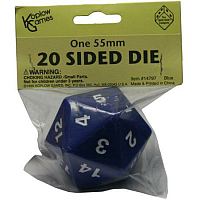 55mm d20 Spindown Life Counter: Blue