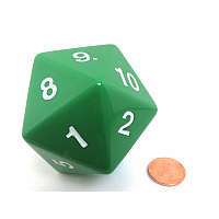 55mm d20 Spindown Life Counter: Green