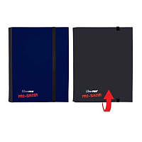 4-Pocket Blue & Black Flip PRO-Binder