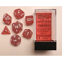 7 x Polyhedral Red/White Frosted Dice (Chessex)