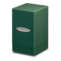 Green Satin Tower Deck Box