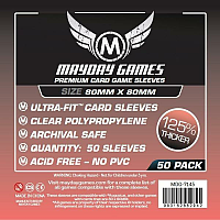 Mayday Premium Card Games Sleeves - Medium Square 80 x 80
