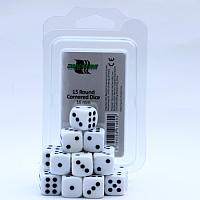 Blackfire Dice - 16mm D6 Dice Set - White (15 Dice)