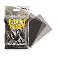 Dragon Shield Standard Perfect Fit Sleeves - Smoke (100 Sleevees)