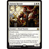 Solemn Recruit ( Aether Revolt Prerelease Foil )