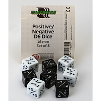 Positive/Negative D6 Dice - Set of 8
