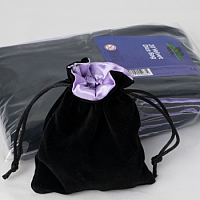 Velvet Dice Bag with Purple Satin Lining