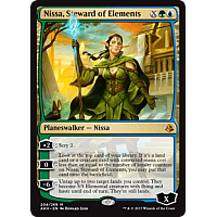 Nissa, Steward of Elements ( Amonkhet Prerelease Foil )