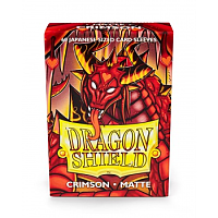 Dragon Shield Small Sleeves - Japanese Matte Crimson (60 Sleeves)