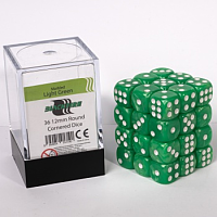 Blackfire Dice Cube – 12mm D6 36 Dice Set – Marbled Light Green