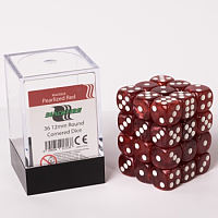 Blackfire Dice Cube – 12mm D6 36 Dice Set – Marbled Pearlized Red