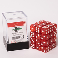 Blackfire Dice Cube – 12mm D6 36 Dice Set – Marbled Red