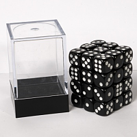 Blackfire Dice Cube – 12mm D6 36 Dice Set – Opaque Black