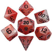 Acrylic Dice: Combo Attack Polyhedral Set