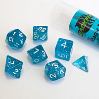 Blackfire Dice - 16mm Role Playing Dice Set - Magic Blue (7 Dice)