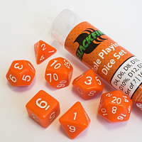 Blackfire Dice - 16mm Role Playing Dice Set - Orange (7 Dice)