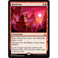 Blood Sun ( Foil ) ( Rivals of Ixalan Prerelease )
