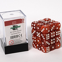 Blackfire Dice Cube - 12mm D6 36 Dice Set - Marbled Rossy