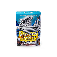 Dragon Shield Small Sleeves - Japanese Matte Silver (60 Sleeves)