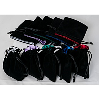Velvet Dice Bag with Color Satin Lining (mixed colors)