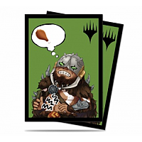 Standard Deck Protector - Chibi Collection Garruk - I'm Starving! for Magic (100 Sleeves)