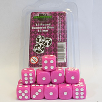 Blackfire Dice - 16mm D6 Dice Set - Pink (15 Dice)