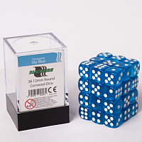 Blackfire Dice Cube - 12mm D6 36 Dice Set - Transparent Sky Blue