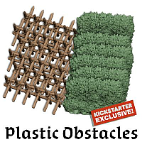 Zombicide Green Horde 3D Plastic Obstacles & Hedges