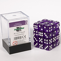 Blackfire Dice Cube - 12mm D6 36 Dice Set - Transparent Dark Purple