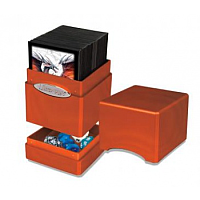 Satin Tower Deck Box: Hi-Gloss Pumpkin