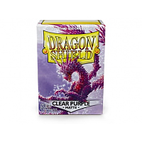 Dragon Shield - Matte Clear Purple (100 Sleeves)